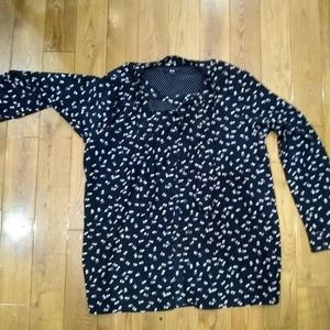 Uniqlo Bow Blouse